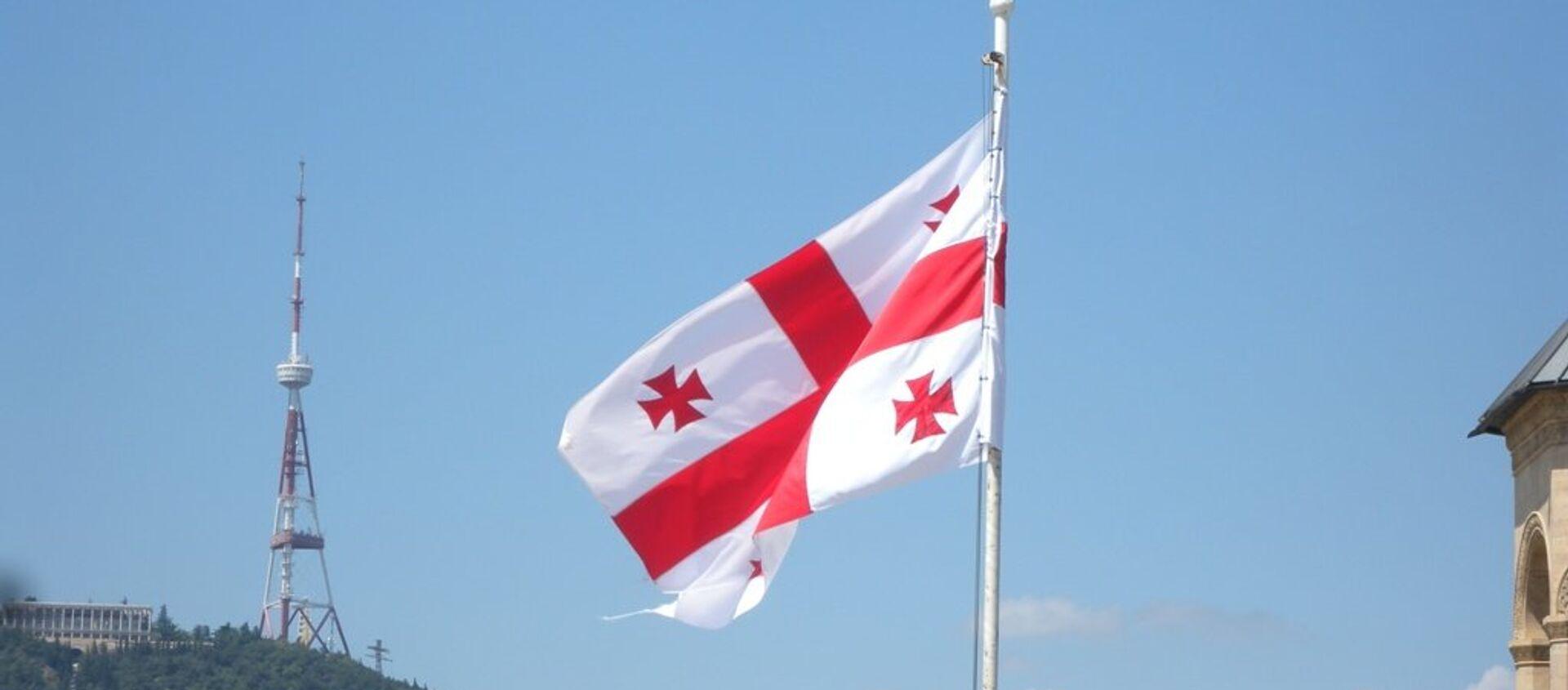 Грузия флаг - Sputnik Грузия, 1920, 17.03.2021