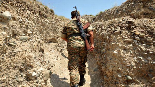 Армянский солдат в Нагорном Карабахе - Sputnik Грузия