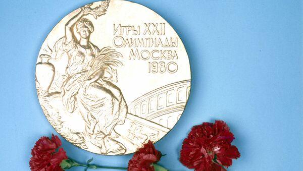 Золотая медаль XXII летних Олимпийских игр в Москве в 1980 году - Sputnik Грузия