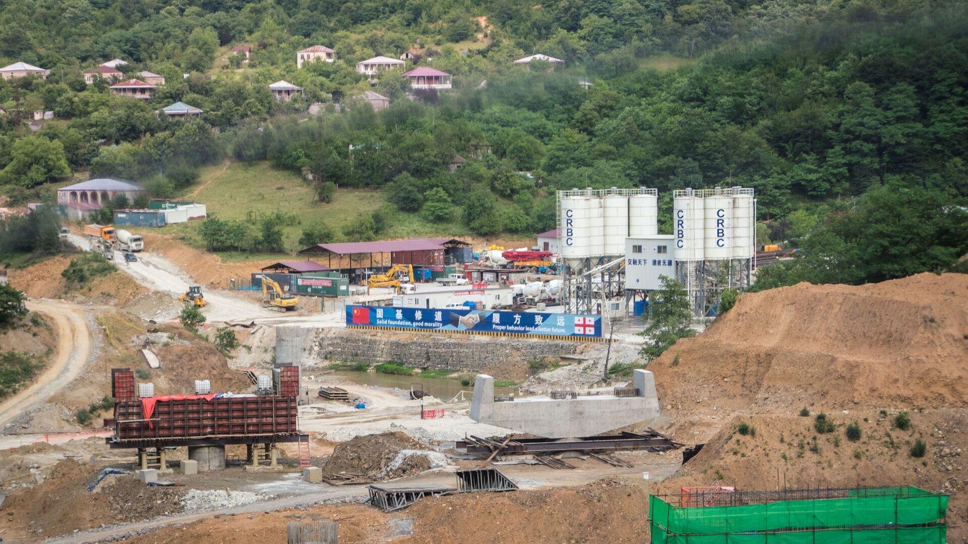 Рикотский перевал. Строительство новой трассы Восток Запад и прокладка тоннелей - Sputnik Грузия, 1920, 13.10.2021