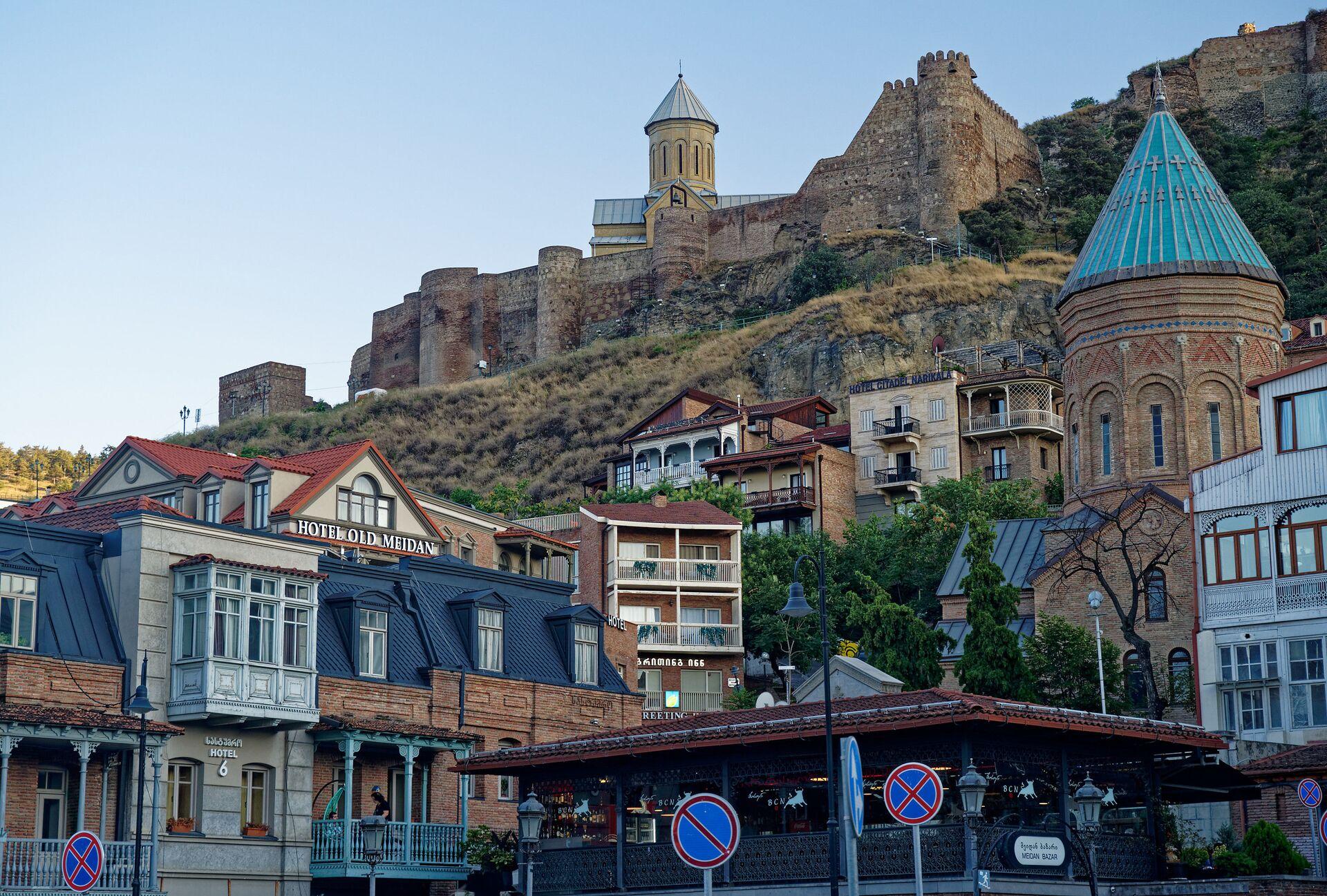 Старый город - историческая часть Тбилиси. Крепость Нарикала и район Калаубани - Sputnik Грузия, 1920, 30.09.2021