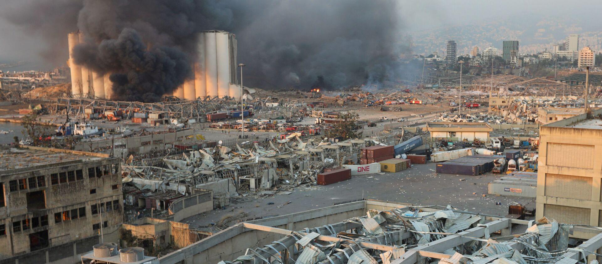 Мощный взрыв в Бейруте - столице и крупнейшем городе Ливана - Sputnik Грузия, 1920, 13.08.2020