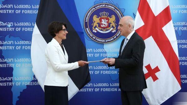 Новый посол Эстонии в Грузии Риина Калиуранд вручает верительные грамоты - Sputnik Грузия