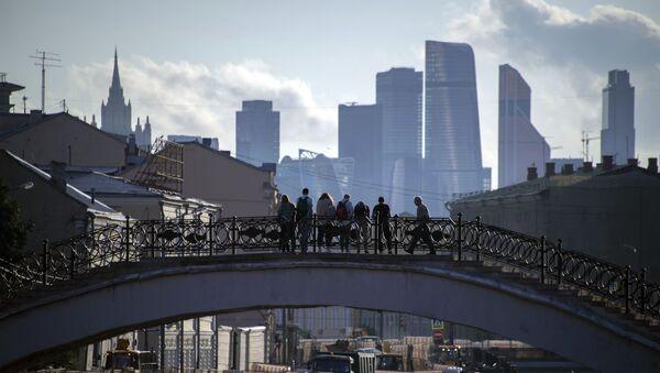 Город Москва. Столица России. Садовнический мост и вид на Москва-сити - Sputnik Грузия