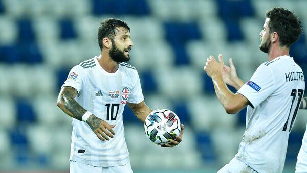 Сборная Грузии по футболу. Футболисты Окриашвили и Квилитая - Sputnik Грузия