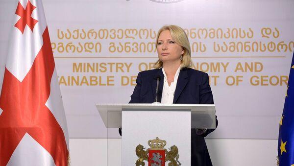 Министр экономики Грузии Натия Турнава - Sputnik Грузия