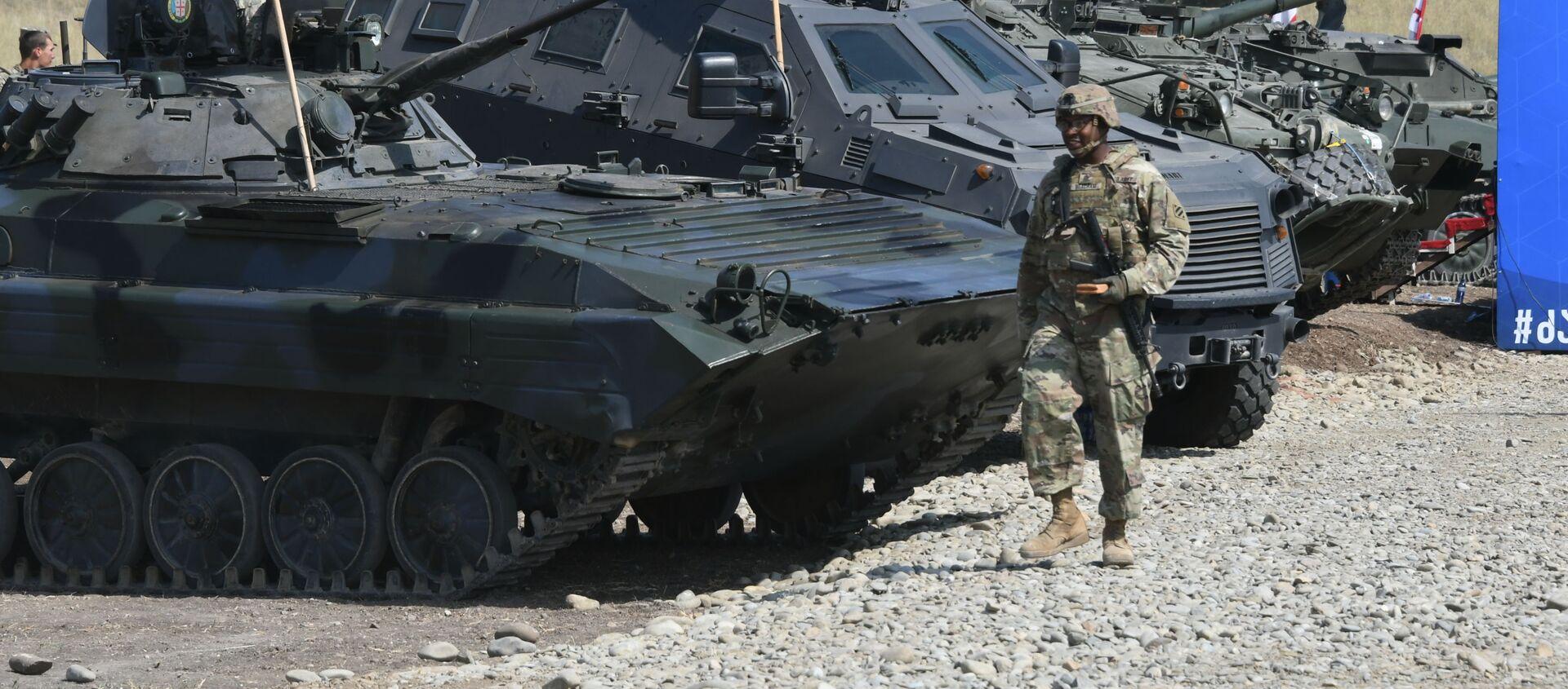 Международные военные учения НАТО Надежный партнер - 2020 (Noble Partner 2020). Церемония закрытия - Sputnik Грузия, 1920, 21.01.2021