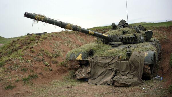 მთიანი ყარაბაღის თავდაცვის არმიის ტანკი ტ-64  - Sputnik საქართველო