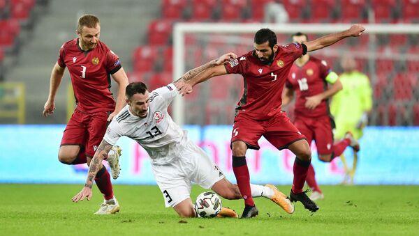 Футбол. Матч между сборными Грузии и Армении на нейтральном поле  - Sputnik Грузия