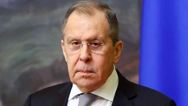 Сергей Лавров дает интервью российским журналистам - Sputnik Грузия