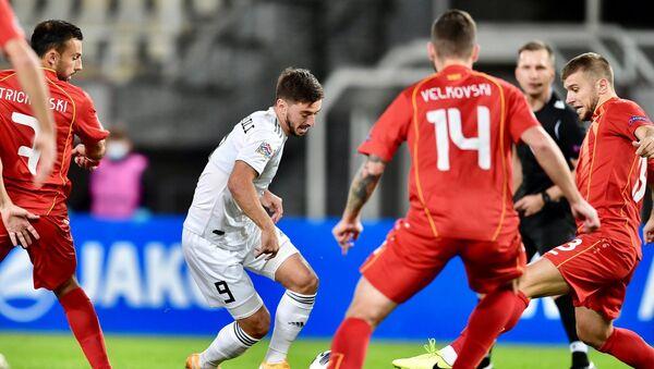 Мачт сборной Грузии с Северной Македонией, Лига наций УЕФА - Sputnik Грузия