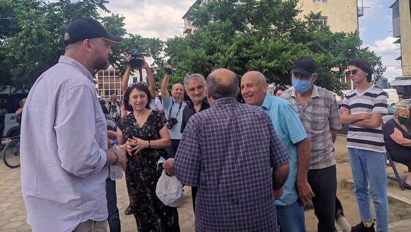 Зураб Джапаридзе, Гирчи, проводит встречи с избирателями - Sputnik Грузия