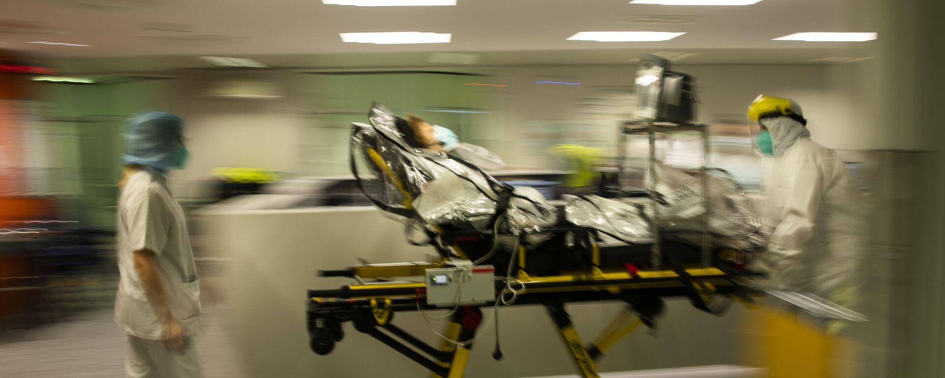 COVID-19-ის დაავადებული პაციენტი საავადმყოფოში - Sputnik საქართველო, 1920, 09.08.2021