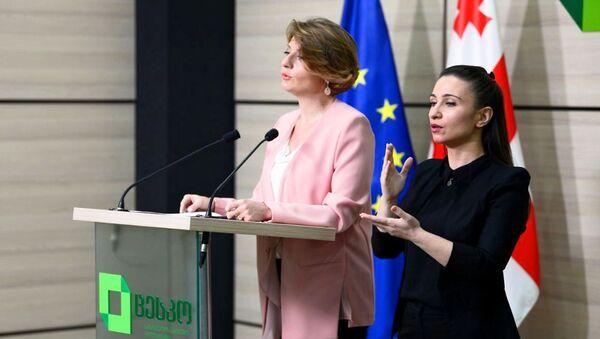 Пресс-спикер ЦИК Грузии Анна Микеладзе. Парламентские выборы 2020 - Sputnik Грузия