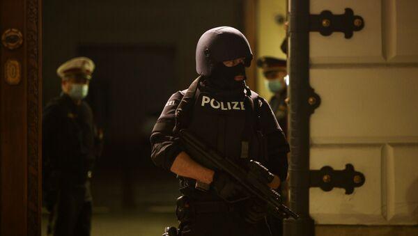 Полицейский спецназ в Вене, Австрия, после террористического нападения - Sputnik Грузия