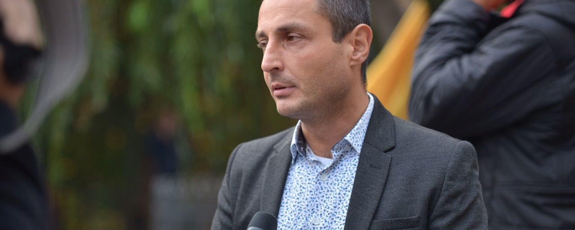 Лаша Чхартишвили. Шествие лидеров и сторонников оппозиции, призывающих жителей прийти на митинг 8 ноября - Sputnik Грузия, 1920, 18.08.2021