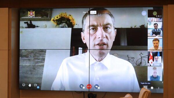 Георгий Гахария ведет совещание с правительством Грузии в онлайн режиме - Sputnik Грузия