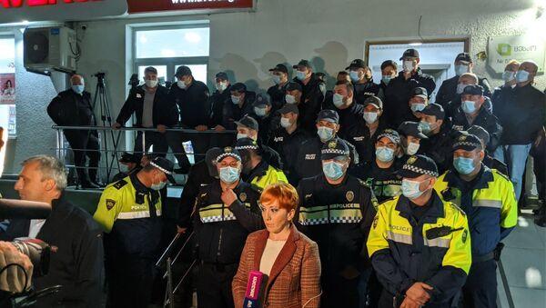 Оппозиция протестует у окружной избирательной комиссии в Кутаиси 05.11.2020 - Sputnik Грузия