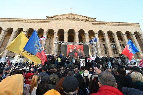 Масштабная акция протеста оппозиции в Тбилиси началась в 15:00 перед зданием парламента Грузии - Sputnik Грузия
