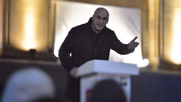 Ника Мелия. Акция протеста оппозиции у здания парламента Грузии 9 ноября 2020 года - Sputnik Грузия