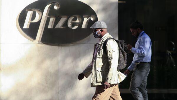 Офис компании Pfizer в Нью-Йорке  - Sputnik Грузия