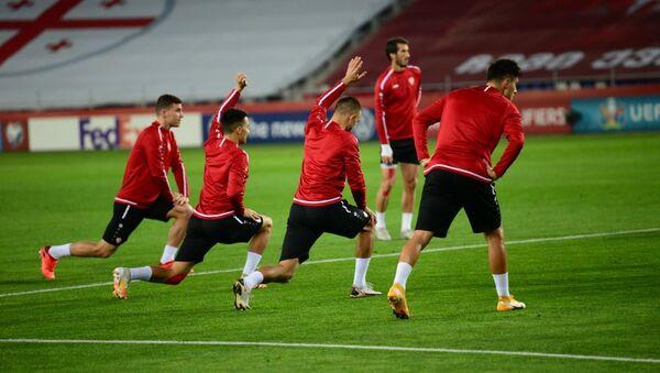 Сборная Македонии по футболу провела тренировку перед матчем с командой Грузии - Sputnik Грузия