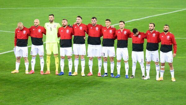 Сборная Грузии по футболу перед началом матча с командой Македонии - Sputnik Грузия