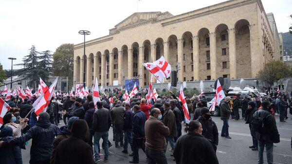 Акция оппозиции 14 ноября 2020 года. Архивное фото - Sputnik Грузия