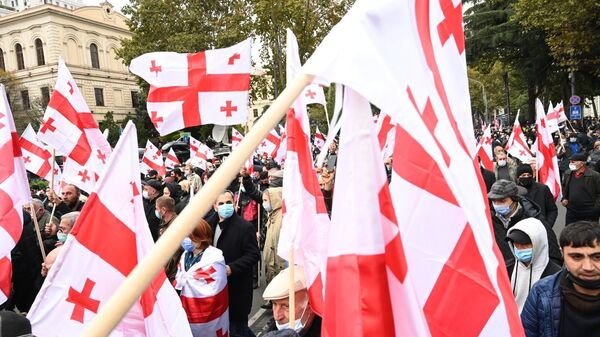 Акция оппозиции 14 ноября 2020 года - шествие по проспекту Руставели - Sputnik Грузия