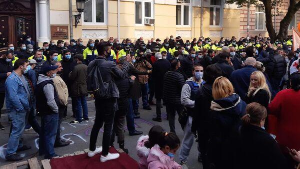 Акция протеста оппозиции в Батуми 15 ноября 2020 года у здания правительства Аджарии - Sputnik Грузия