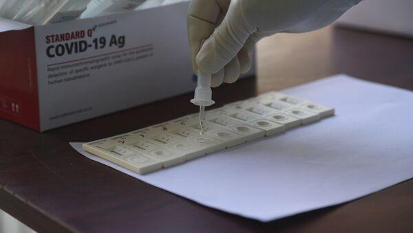 Тест на коронавирус, фото из архива - Sputnik Грузия