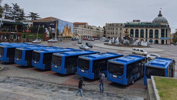 Кутаиси - новые пассажирские городские автобусы - Sputnik Грузия