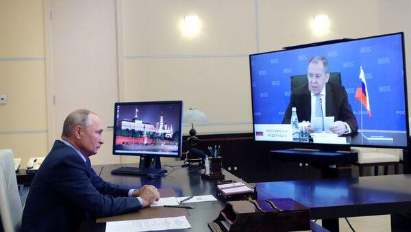 Президент РФ В. Путин встретился с главами МИД государств-членов ШОС - Sputnik Грузия