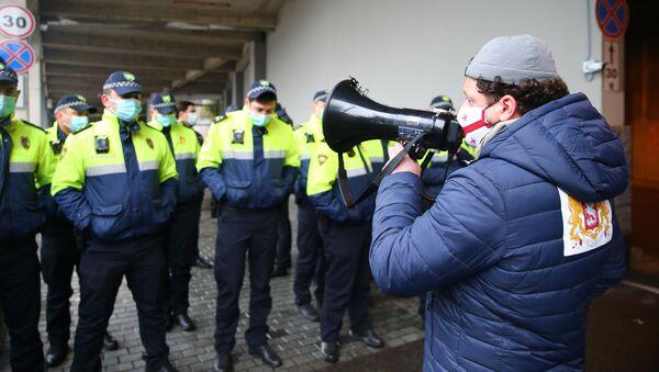 Акция протеста у резиденции Бидзины Иванишвили 21 ноября 2020 года - Sputnik Грузия