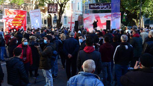 Акция протеста оппозиции в столице Аджарии против итогов выборов 29 ноября 2020 года - Sputnik Грузия