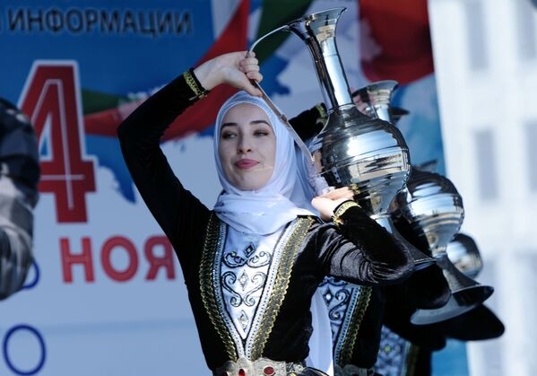 Выступление ансамбля песни и танца Заманхо в Грозном на праздновании Дня народного единства в РФ - Sputnik Грузия