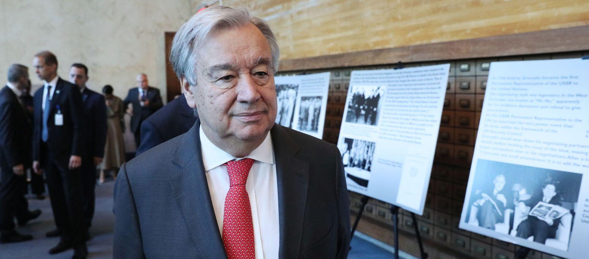 Генеральный секретарь Организации Объединенных Наций (ООН) Антониу Гутерреш - Sputnik Грузия, 1920, 02.12.2020