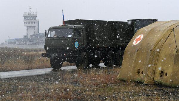 Развертывание российскими военными полевого госпиталя в Степанакерте - Sputnik Грузия