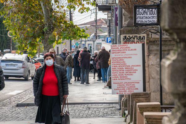 Кутаиси - один из крупных городов Грузии, где действуют строгие ограничения в связи с пандемией коронавируса - Sputnik Грузия