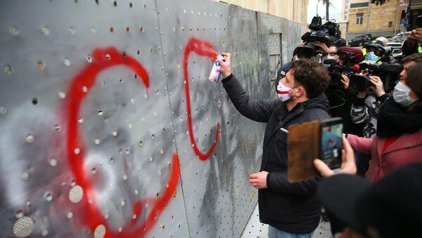 Акция протеста оппозиции у парламента Грузии 3 декабря - стычка с полицией - Sputnik Грузия