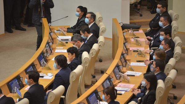 Правительство Грузии. Парламент Грузии десятого созыва начал работу 11 декабря 2020 года  - Sputnik Грузия