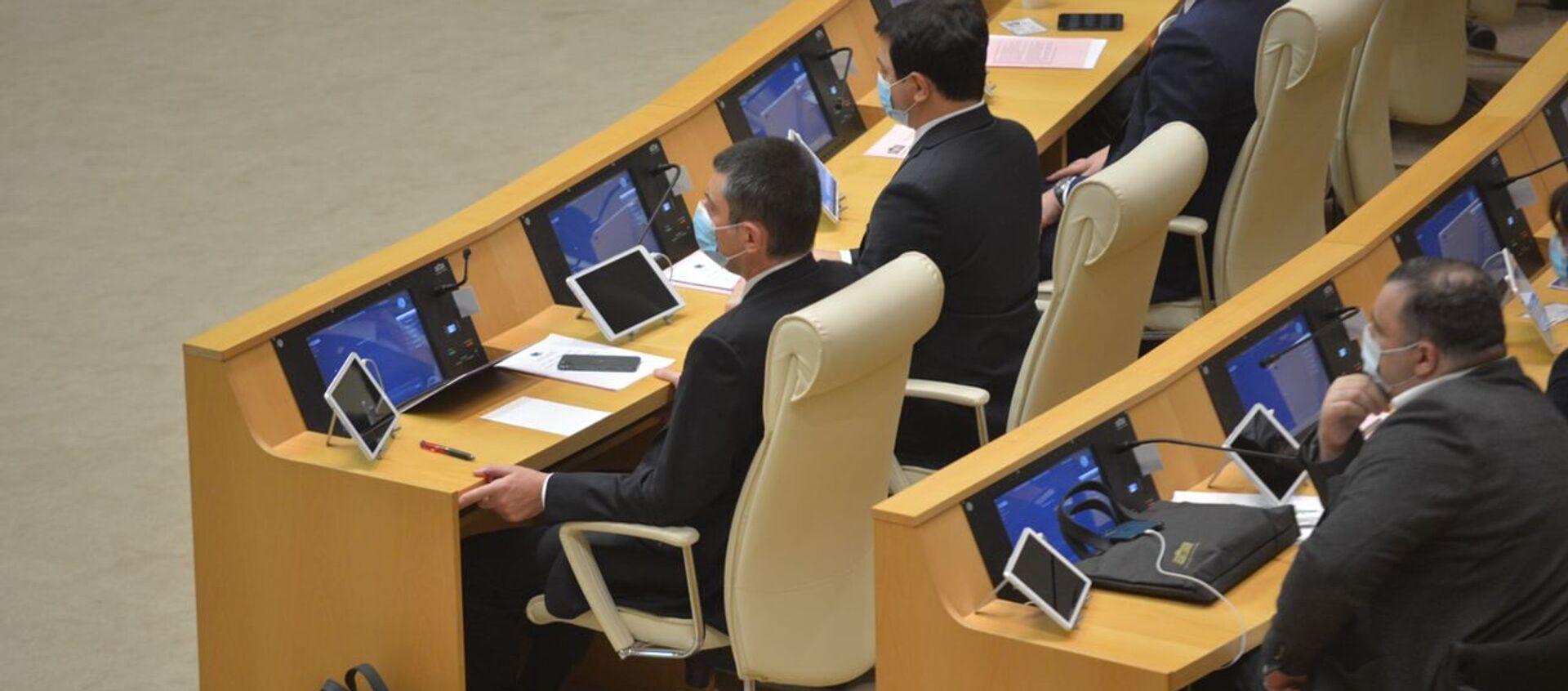 Георгий Гахария. Парламент Грузии десятого созыва начал работу 11 декабря 2020 года  - Sputnik Грузия, 1920, 29.04.2021
