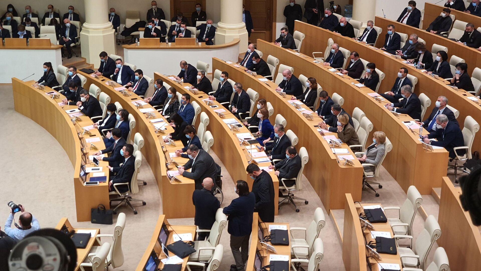 Парламент Грузии десятого созыва. Пленарное заседание - Sputnik Грузия, 1920, 18.02.2021