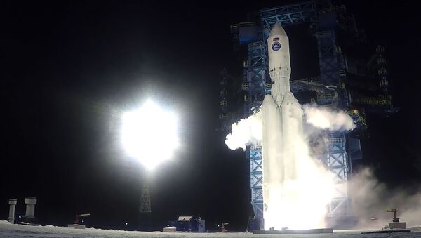 Запуск российской тяжелой ракеты Ангара-А5 - видео - Sputnik Грузия
