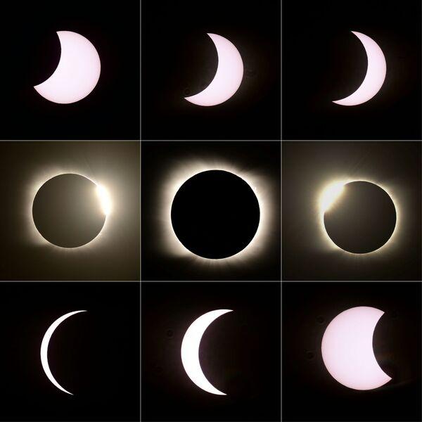 Так выглядят фазы солнечного затмения на одном изображении - Sputnik Грузия