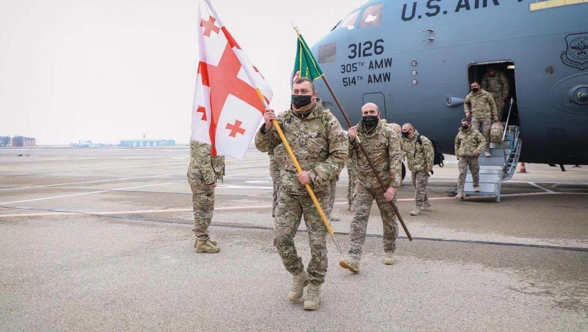 Грузинские миротворцы вернулись из Афганистана - Sputnik Грузия, 1920, 21.05.2021