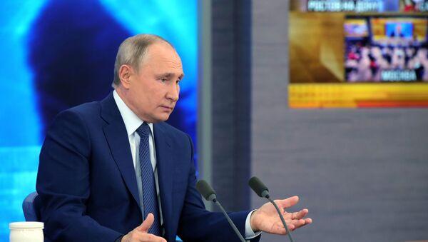 Ежегодная пресс-конференция президента РФ В. Путина - Sputnik Грузия