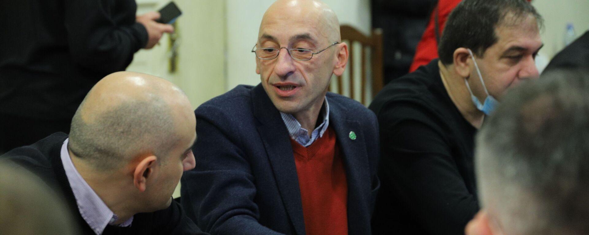 Вахтанг Мегрелишвили. Объединенная оппозиция провела консультации в офисе Лейбористской партии - Sputnik Грузия, 1920, 10.08.2021