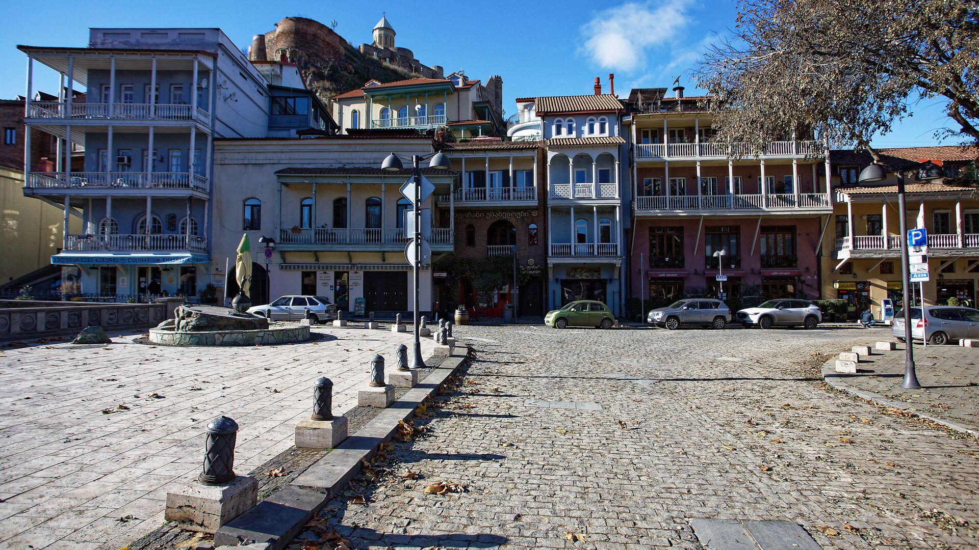 Вид на город Тбилиси зимой - район Абанотубани - Sputnik Грузия, 1920, 08.09.2021