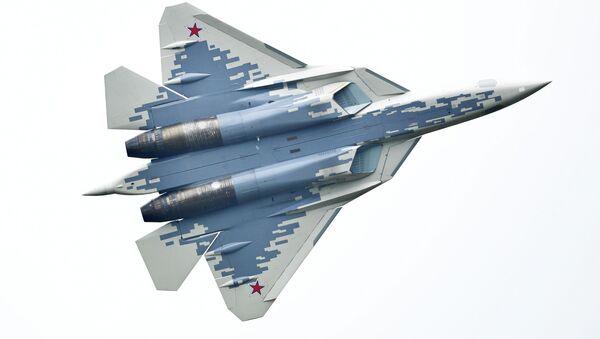 Многофункциональный истребитель Су-57, архивное фото - Sputnik Грузия
